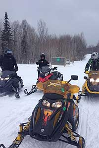 snowmobile trails in Jackman, Maine