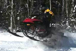 Snowmobiling in Jackman, Maine